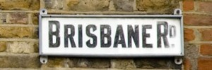 Brisbane Road sign