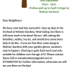 Can you help us? Walmer Gardens Orchard Clear Up Day Saturday 22nd August