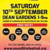 Live music, activities for all the family and more at West Ealing SoundBite Festival in Dean Gardens Saturday 10th Sept 1-9pm